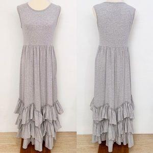 prairie modest tiered ruffle maxi dress | NWT